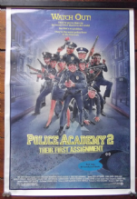 Police Academy 2, Original Movie Poster, Steve Guttenberg, Bubba Smith, '85